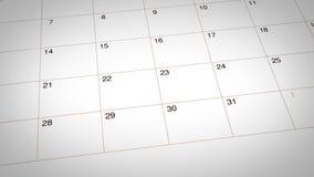 Inget tobakdagdatum som markeras på kalender vektor illustrationer