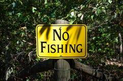 Inget träfisketecken parkerar arkivbilder