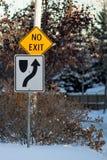 Inget utgångsvägmärke Royaltyfria Foton