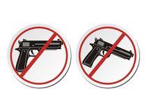 Inget vapen - klistermärkeuppsättningar Fotografering för Bildbyråer