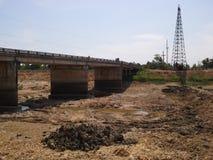 Inget vatten i kanalen, Thailand Royaltyfria Foton