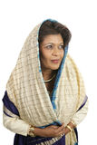 Ingetogen Indische Vrouw royalty-vrije stock foto's