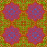 Ingewikkeld biomorphic symmetrie naadloos patroon royalty-vrije illustratie