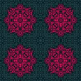 Ingewikkeld biomorphic symmetrie naadloos patroon stock illustratie