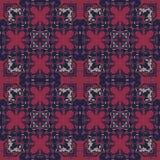 Ingewikkeld biomorphic symmetrie naadloos patroon vector illustratie