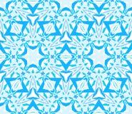 Ingewikkeld Caleidoscopisch Naadloos Patroonblauw Stock Afbeelding