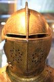 Ingewikkeld Gesneden Gouden Helm Royalty-vrije Stock Afbeelding