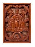 Ingewikkeld hout gesneden kunstwerk Royalty-vrije Stock Afbeeldingen