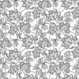 Ingewikkeld naadloos patroon met decoratief Stock Afbeelding