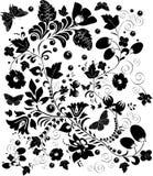 Ingewikkeld zwart ontwerp royalty-vrije illustratie