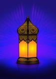 Ingewikkelde Arabische staand lamp royalty-vrije illustratie