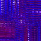 Ingewikkelde donkerblauwe purple van het strepenpatroon verplaatste dimensionaal Stock Afbeeldingen