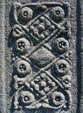 Ingewikkelde Keltische gravure stock afbeeldingen