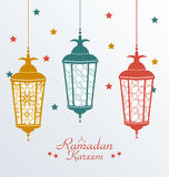 Ingewikkelde Kleurrijke Arabische Lampen royalty-vrije illustratie