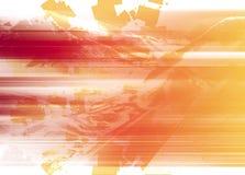 Ingewikkelde lijnen van rood en oranje Stock Afbeelding