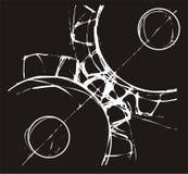 Ingewikkelde radertjewielen vector illustratie