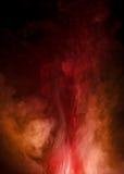 Ingewikkelde Rode en oranje Rook Royalty-vrije Stock Foto