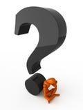 Ingewikkelde vraag royalty-vrije illustratie