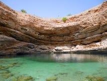 Inghiottitoio di Bimmah, Oman Immagini Stock Libere da Diritti