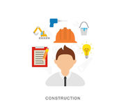 Ingineer construction Royalty Free Stock Photography