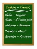 Inglés-francés del diccionario. Imagen de archivo libre de regalías