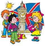 Inglês ilustração royalty free
