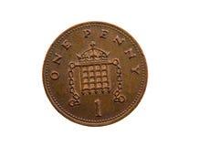 Inglês da moeda de um centavo Fotos de Stock Royalty Free