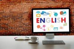 INGLÊS (educação de língua de Ingleses Inglaterra) você fala engl Fotografia de Stock