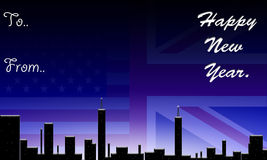 Inglaterra & América, ano novo feliz. ilustração royalty free