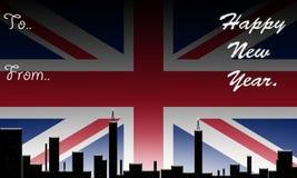 Inglaterra, ano novo feliz. ilustração do vetor