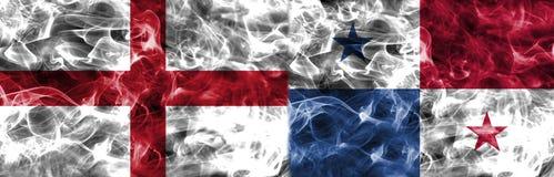 Inglaterra contra a bandeira do fumo de Panamá, grupo G, campeonato do mundo 2018 do futebol, Ilustração Stock