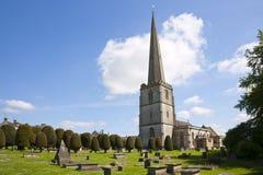 Inglaterra, Gloucestershire, o ` histórico da igreja de lãs do ` em Painswick foto de stock