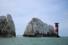 Inglaterra, isla de la luz, paisaje, océano, rocas, lugar asombroso Foto de archivo libre de regalías