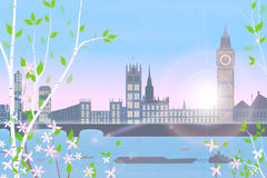 Inglaterra, Londres, mola Fotografia de Stock Royalty Free