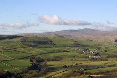Ingleborough from above Langcliffe near Settle, Yorkshire Dales Stock Photography