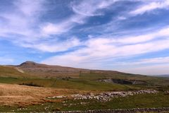 Ingleborough from Kingsdale, North Yorkshire, Royalty Free Stock Photo