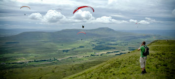 Ingleborough Panorama royalty free stock photo
