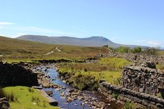 Ingleborough and Simon Fell from Blea Moor Royalty Free Stock Photo