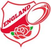 Inglese Rosa della sfera di rugby dell'Inghilterra Fotografie Stock