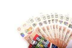 Ingleses 10 libras Imagens de Stock Royalty Free