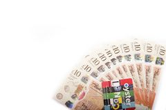 Ingleses 10 libras Imagens de Stock
