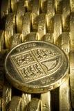 Ingleses uma moeda de libra Fotografia de Stock Royalty Free