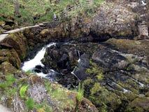 Ingleton瀑布小河 库存图片