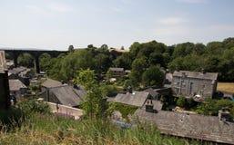 Ingleton-Dorf-Steinhäuser, Yorkshire-Täler, Nord-Yorkshire lizenzfreie stockbilder