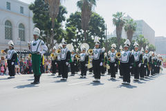 Inglewood High School Band at the Norooz Festival and Persian Pa Stock Photography