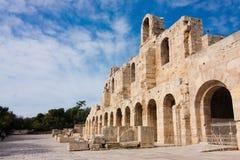 Ingång till den forntida teatern Royaltyfri Bild
