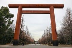 Ingång till den japanska templet Royaltyfria Foton