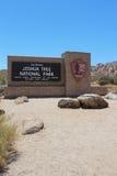 Ingång till nationalparken för Joshua Tree Royaltyfri Fotografi