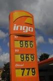 INGO GAS STATION. Copenhagen /Denmark - 13.August. 2017.   Gas price at Ingo gasoline station in Herlev    Photo.Francis Joseph  Dean/Deanpictures Stock Photos