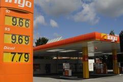 INGO GAS STATION. Copenhagen /Denmark - 13.August. 2017.   Gas price at Ingo gasoline station in Herlev    Photo.Francis Joseph  Dean/Deanpictures Stock Image